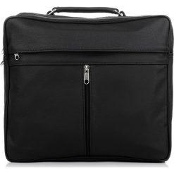 TORBA MĘSKA ABRUZZO SKÓRZANA DO PRACY. Czarne torby na ramię męskie marki Abruzzo, ze skóry. Za 159,00 zł.