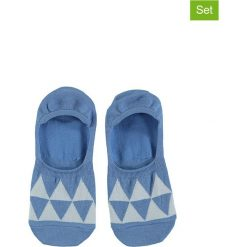 Bielizna męska: Skarpetki-stopki (3 pary) w kolorze niebiesko-białym