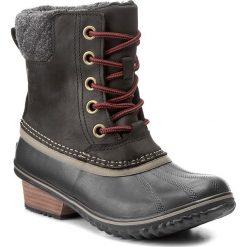 Botki SOREL - Slimpack II Lace NL2348 Black/Kettle 010. Czarne buty zimowe damskie Sorel, z gumy. W wyprzedaży za 389,00 zł.