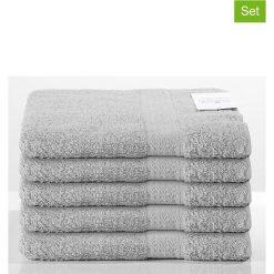Kąpielówki męskie: Ręczniki prysznicowe (5 szt.) w kolorze szarym