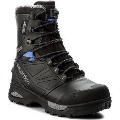 Śniegowce SALOMON - Toundra Pro Cswp 399722 21 G0 Phantom/Black/Amparo Blue. Czarne buty zimowe damskie marki Salomon, z gore-texu, na sznurówki, outdoorowe, gore-tex. W wyprzedaży za 619,00 zł.