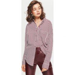 Odzież: Koszula w paski - Bordowy