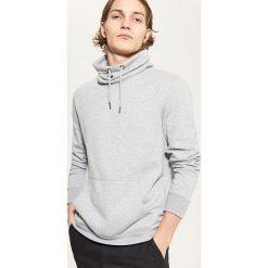 Bluza z kominem - Jasny szar. Szare bluzy męskie rozpinane marki TARMAK, m, z bawełny, z kapturem. Za 99,99 zł.