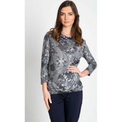 Bluzki damskie: Szara bluzka w kwiaty QUIOSQUE