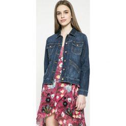 Wrangler - Kurtka Heritage Jacket. Szare kurtki damskie marki Wrangler, na co dzień, m, z nadrukiem, casualowe, z okrągłym kołnierzem, mini, proste. W wyprzedaży za 279,90 zł.