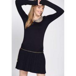 Granatowa Sukienka Shiny. Niebieskie sukienki mini marki Born2be, l. Za 59,99 zł.