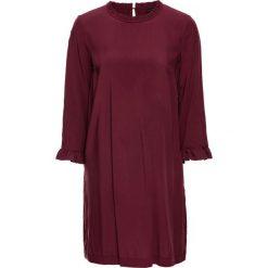 Sukienki: Sukienka z falbanką z wiskozy, bez podszewki bonprix czerwony klonowy