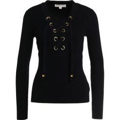 MICHAEL Michael Kors LACE UP  Sweter black. Czarne swetry klasyczne damskie marki MICHAEL Michael Kors, xs, z materiału. W wyprzedaży za 408,85 zł.