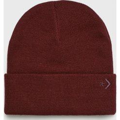 Converse - Czapka. Brązowe czapki zimowe męskie Converse, na zimę, z dzianiny. W wyprzedaży za 69,90 zł.