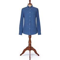 Koszula Granatowa w Jodełkę Park. Szare koszule męskie na spinki LANCERTO, l, z bawełny, button down. W wyprzedaży za 249,00 zł.