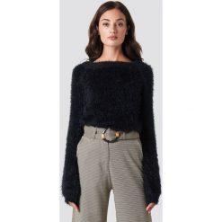 Rut&Circle Puchaty sweter - Black. Zielone swetry klasyczne damskie marki Rut&Circle, z dzianiny, z okrągłym kołnierzem. Za 161,95 zł.