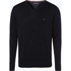 Swetry klasyczne męskie: Tommy Hilfiger – Sweter męski z dodatkiem jedwabiu, niebieski