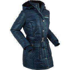 Kurtka pikowana outdoorowa bonprix ciemnoniebieski. Niebieskie kurtki damskie pikowane bonprix, s, w paski. Za 189,99 zł.
