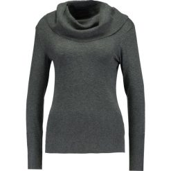 Swetry klasyczne damskie: Soyaconcept Sweter dark grey melange