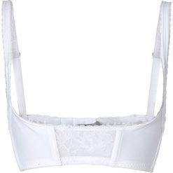 Biustonosz podnoszący biust (mis. A - D) bonprix biały. Białe biustonosze bardotka bonprix, w koronkowe wzory, z koronki. Za 44,99 zł.