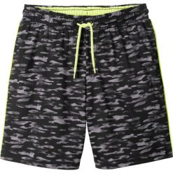 Odzież chłopięca: Spodnie sportowe bonprix czarny z nadrukiem