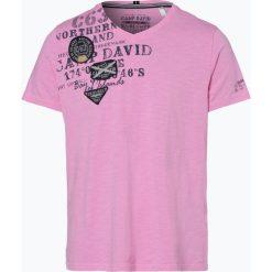 Camp David - T-shirt męski, różowy. Fioletowe t-shirty męskie z nadrukiem marki KIPSTA, m, z elastanu, z długim rękawem, na fitness i siłownię. Za 129,95 zł.