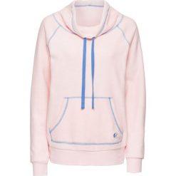 Bluza z polaru bonprix pastelowy jasnoróżowy - niebieski. Czerwone bluzy polarowe bonprix. Za 79,99 zł.