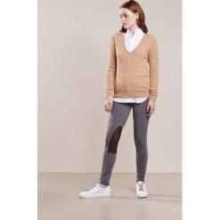 Polo Ralph Lauren KIMBERLY  Sweter camel melange. Brązowe swetry klasyczne damskie Polo Ralph Lauren, m, z kaszmiru, polo. Za 589,00 zł.