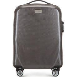 Walizka mała 56-3P-571-70. Szare walizki marki Wittchen, z gumy, małe. Za 329,00 zł.