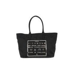 Shopper bag damskie: Torby shopper Richmond  BLACK SILVER TATOO