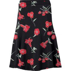 Spódniczka bonprix czarny w kwiaty. Czarne spódniczki rozkloszowane marki KALENJI, z elastanu. Za 59,99 zł.
