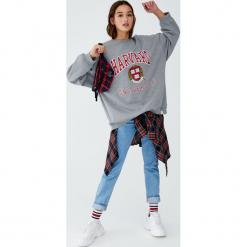 Bluza college Harvard University. Szare bluzy damskie Pull&Bear. Za 109,00 zł.