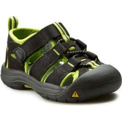 Sandały KEEN - Newport H2 1009922 Black/Lime Green. Czarne sandały chłopięce Keen, z gumy. W wyprzedaży za 179,00 zł.