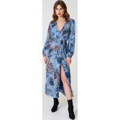Długie sukienki: Gestuz Kopertowa sukienka Begonia - Blue