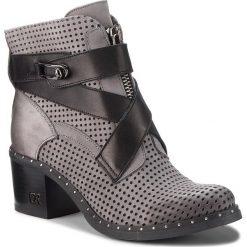 Botki CARINII - B4441 J51-E50-000-861. Szare buty zimowe damskie Carinii, z nubiku, na obcasie. W wyprzedaży za 279,00 zł.