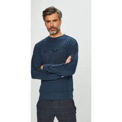 Diesel - Bluza. Szare bluzy męskie rozpinane Diesel, l, z aplikacjami, z bawełny, bez kaptura. Za 319,90 zł.
