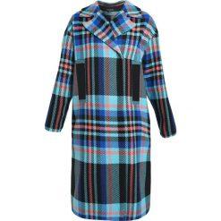 Płaszcze damskie: Topshop BRIGHT CHECK LONGLINE Płaszcz wełniany /Płaszcz klasyczny multicoloured