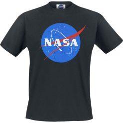 NASA NASA Circle Logo T-Shirt czarny. Czarne t-shirty męskie z nadrukiem marki NASA, xl, z okrągłym kołnierzem. Za 74,90 zł.