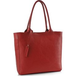 Torebki klasyczne damskie: Skórzana torebka w kolorze czerwonym – (S)40 x (W)30 x (G)13 cm
