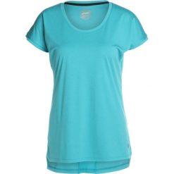 ASICS CAPSLEEVE Tshirt z nadrukiem lake blue heather. Niebieskie topy sportowe damskie Asics, xs, z nadrukiem, z materiału. Za 149,00 zł.