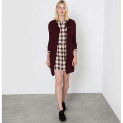Długi rozpinany sweter z kaszmiru. Szare kardigany damskie marki La Redoute Collections, m, z bawełny, z kapturem. Za 357,21 zł.