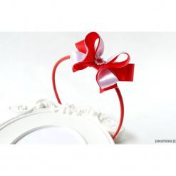 Opaska kokarda czerwona biała Boże Narodzenie. Białe ozdoby do włosów Pakamera. Za 79,00 zł.