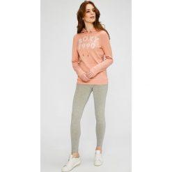 Roxy - Bluza. Szare bluzy rozpinane damskie Roxy, l, z nadrukiem, z bawełny, z kapturem. W wyprzedaży za 149,90 zł.