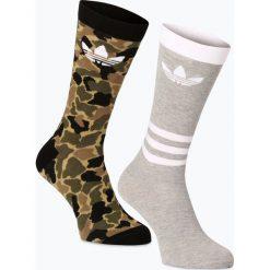 Skarpetki męskie: adidas Originals - Skarpety męskie pakowane po 2 szt., zielony