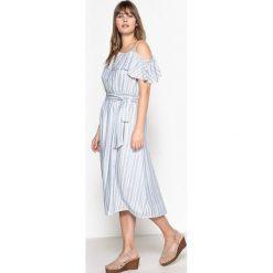 Sukienki: Sukienka z falbankami na piersi