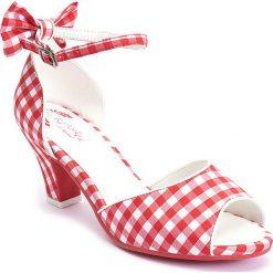 """Sandały damskie: Sandały """"Ava"""" w kolorze czerwono-białym"""