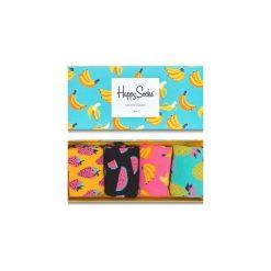 Giftbox (4-pak) skarpetki Happy Socks XPOP09-3000. Szare skarpetki męskie Happy Socks. Za 83,93 zł.