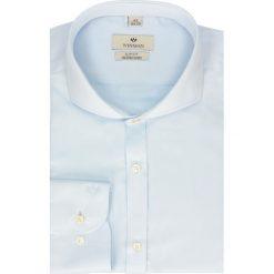 Koszule męskie na spinki: koszula wincode 2109 długi rękaw slim fit niebieski