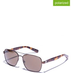 Okulary przeciwsłoneczne męskie lustrzane: Okulary męskie w kolorze brązowym
