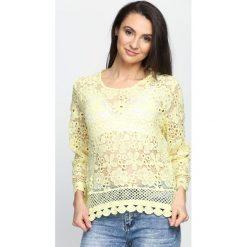 Żółta Bluzka It Was Hot. Żółte bluzki longsleeves marki Mohito, l, z dzianiny. Za 39,99 zł.