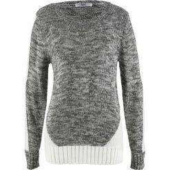 Swetry klasyczne damskie: Sweter, długi rękaw bonprix antracytowy melanż