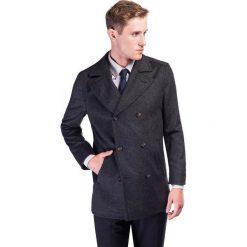 Płaszcz CRISTOFORO PSSE000012. Czarne płaszcze na zamek męskie Giacomo Conti, m, z wełny, klasyczne. Za 799,00 zł.