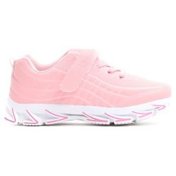 Różowe Buty Sportowe The New Real. Czerwone buty sportowe dziewczęce marki Born2be, z materiału, z okrągłym noskiem. Za 69,99 zł.