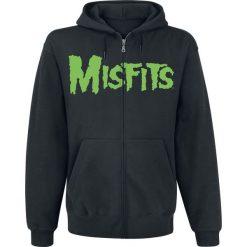 Bejsbolówki męskie: Misfits Jarek Skull Bluza z kapturem rozpinana czarny