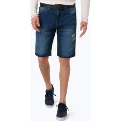 Review - Męskie bermudy jeansowe, niebieski. Niebieskie bermudy męskie Review, z dresówki, eleganckie. Za 169,95 zł.